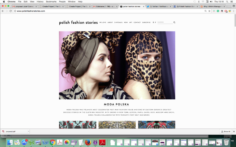 Polish Fashion Stories Website