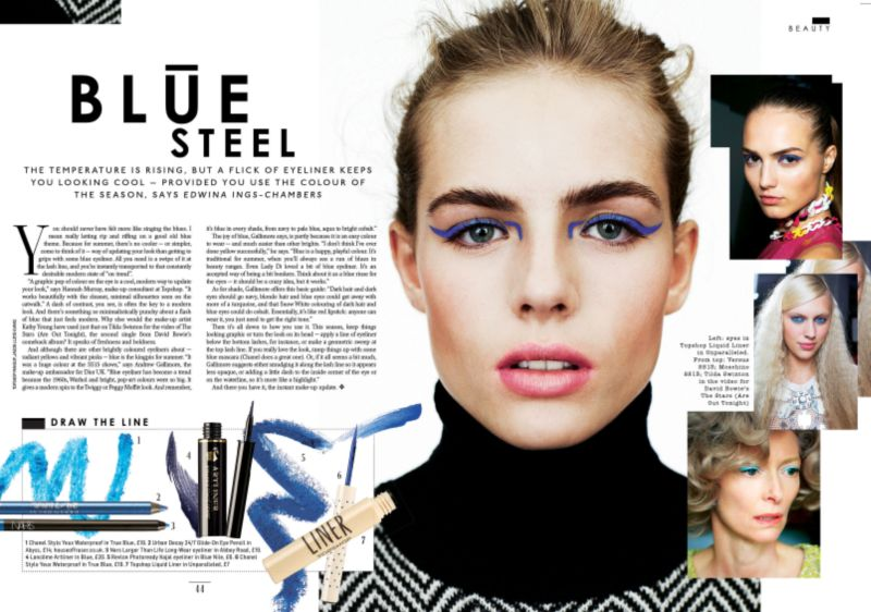 The Sunday Times Style blue beauty story