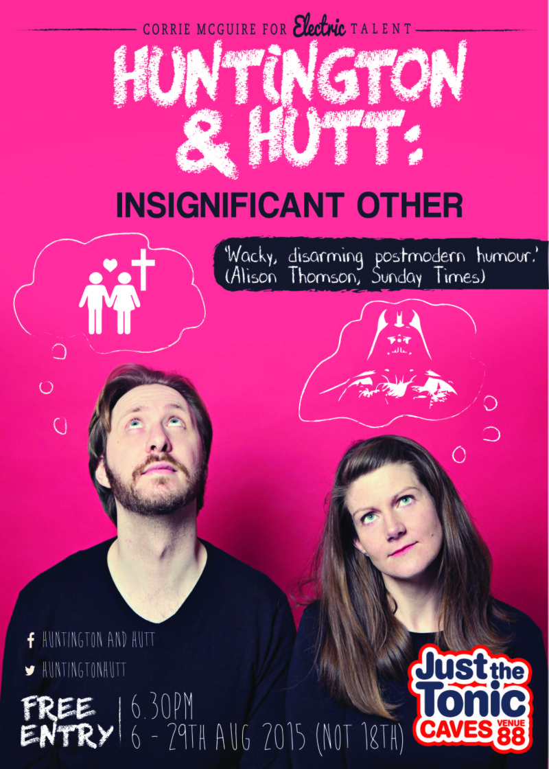 Edinburgh Festival - poster and flyer for comedy act