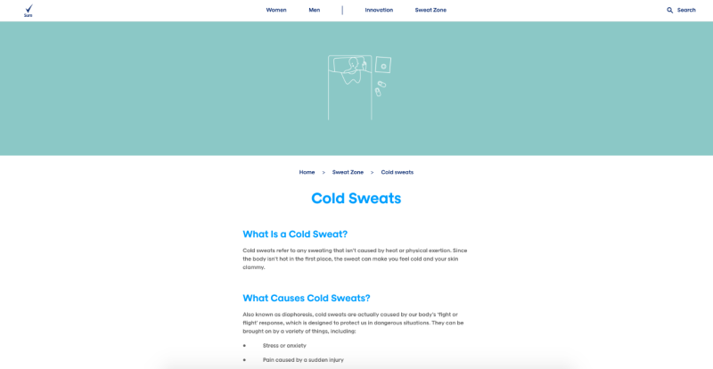 Sure Deodorant Website Sweat Zone Launch