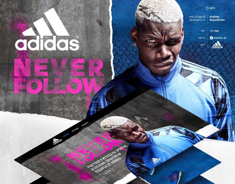 Adidas - Never Follow Web App
