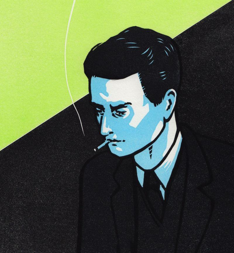 Smoking Man book cover illustration