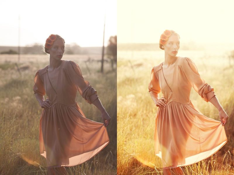 Retouching examples