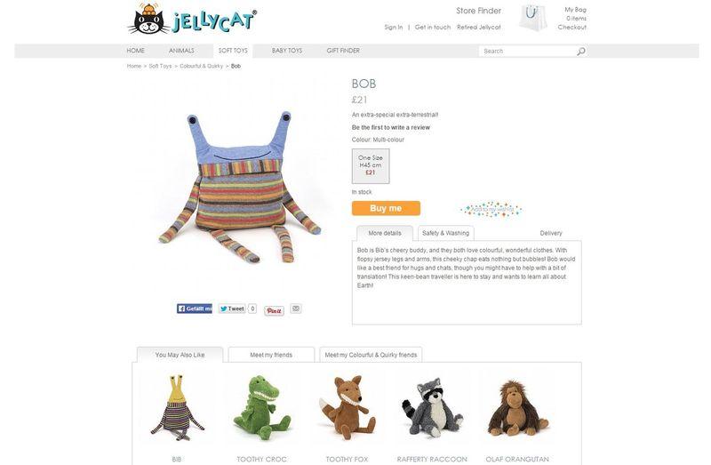 Jellycat product blurbs