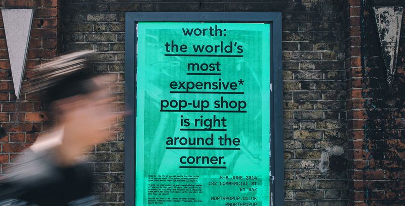Worth: the world's first social media fuelled price-drop pop-up