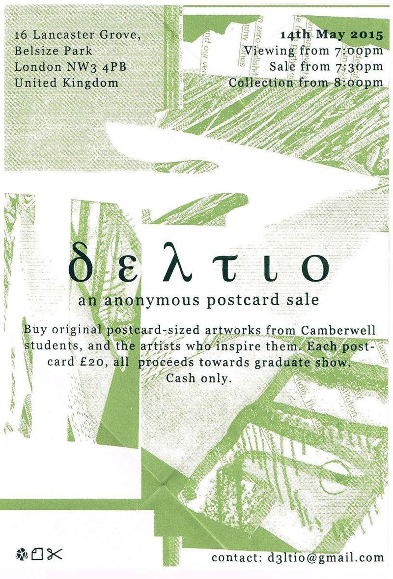 Deltio Anonomous Postcard Sale