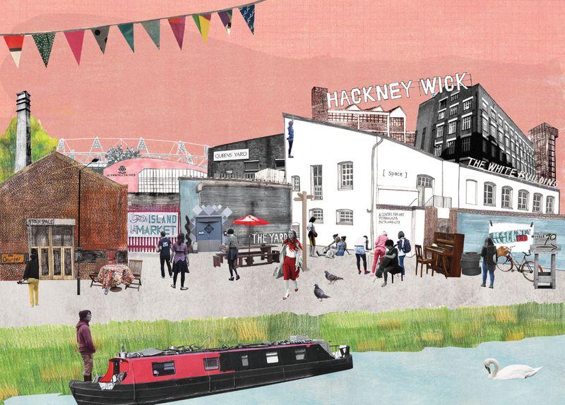 Hackney Wick - Summer Postcard Design