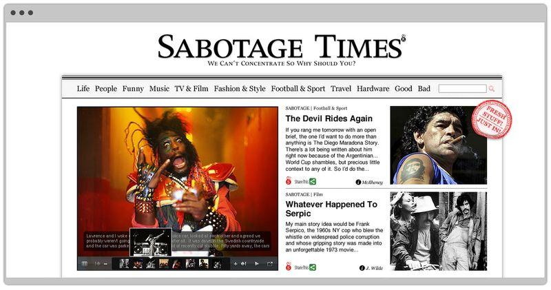 Sabotage Times Website Design