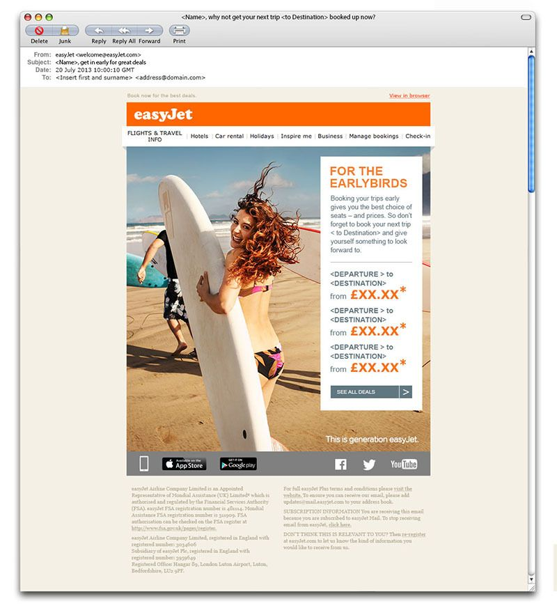 easyJet - email templates