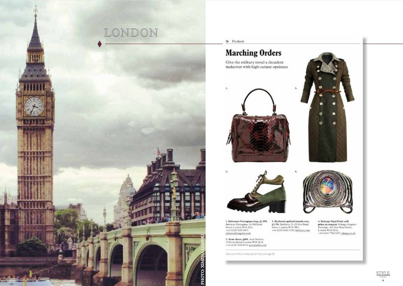 SHOP LONDON LUXE - SHOPPING PAGES