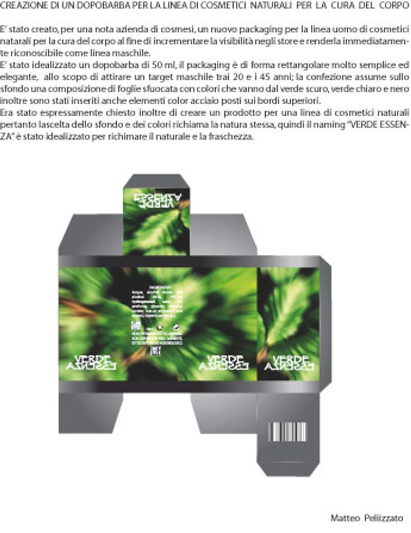 "Pakaging/Advertising insert/Display ""Verde Essenza"""