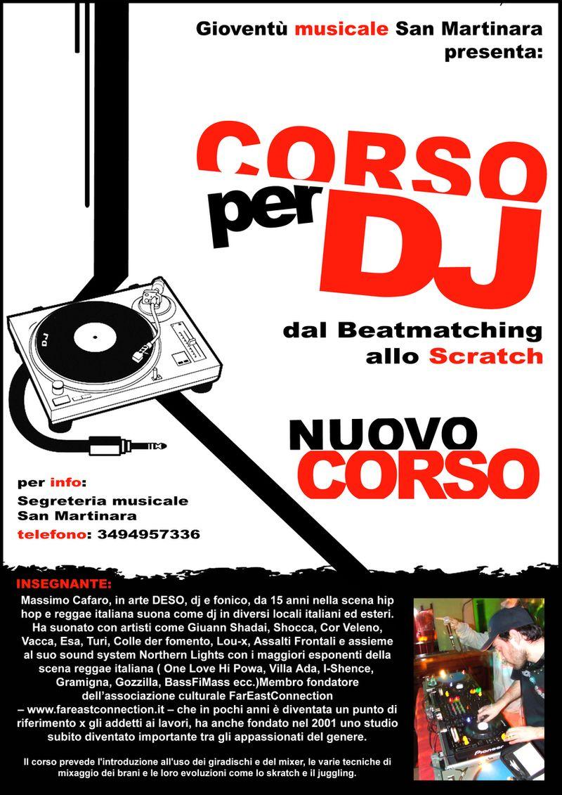 Playbill/Poster corso dj