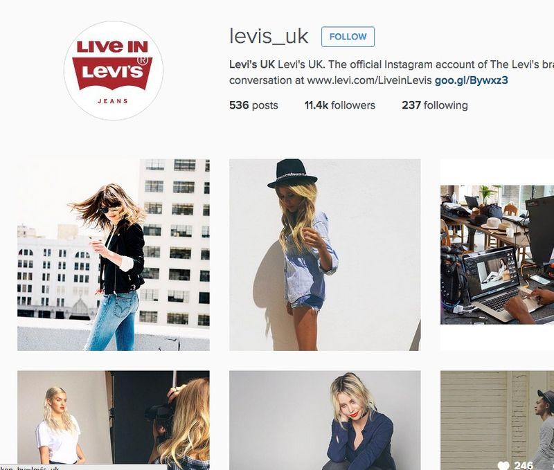 Levi's UK Instagram