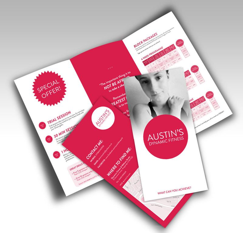 Personal Fitness Trainer: Leaflet Design