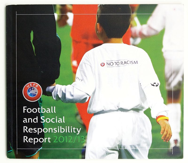 Art direction, page design  & infographics - UEFA Football & Social Responsibility  annual report