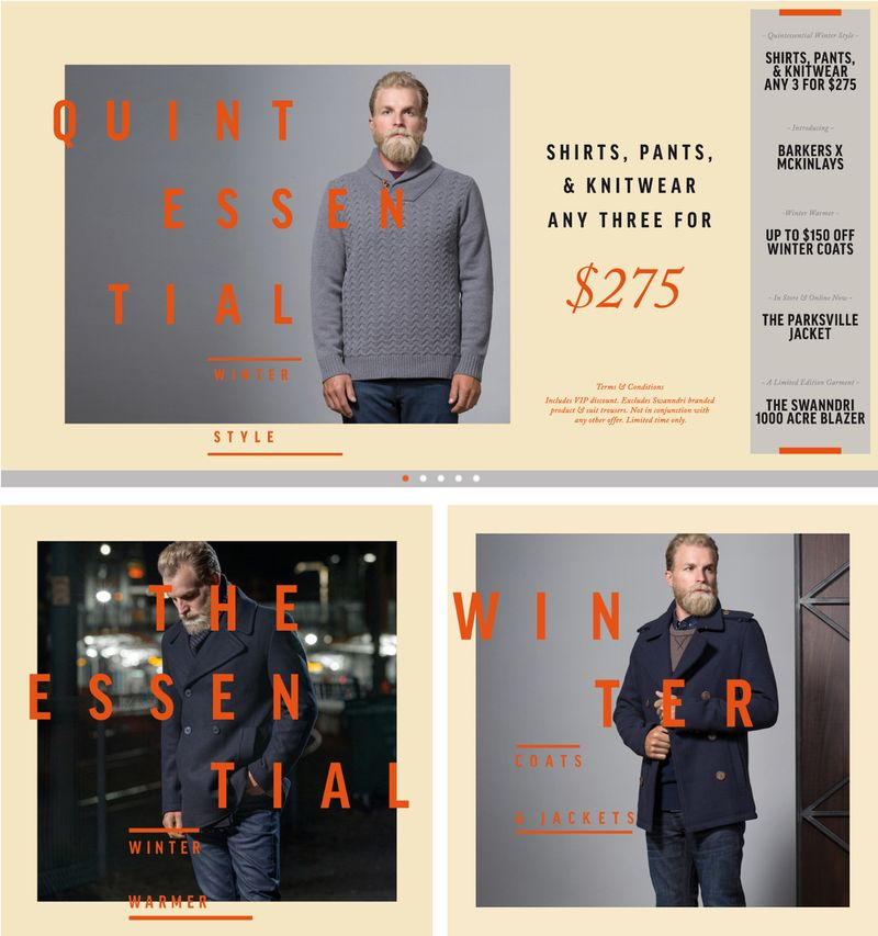 WINTER '14 CAMPAIGN  PROMOTIONAL WEB ASSETS