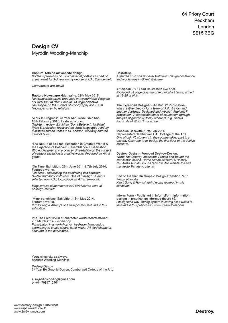Destroy-Design CV
