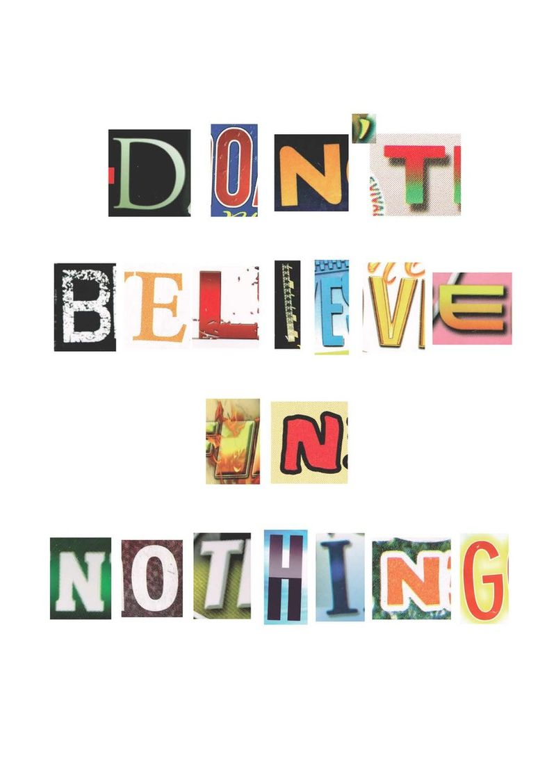 Don't Believe in Nothing