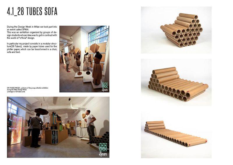 28 tubes sofa