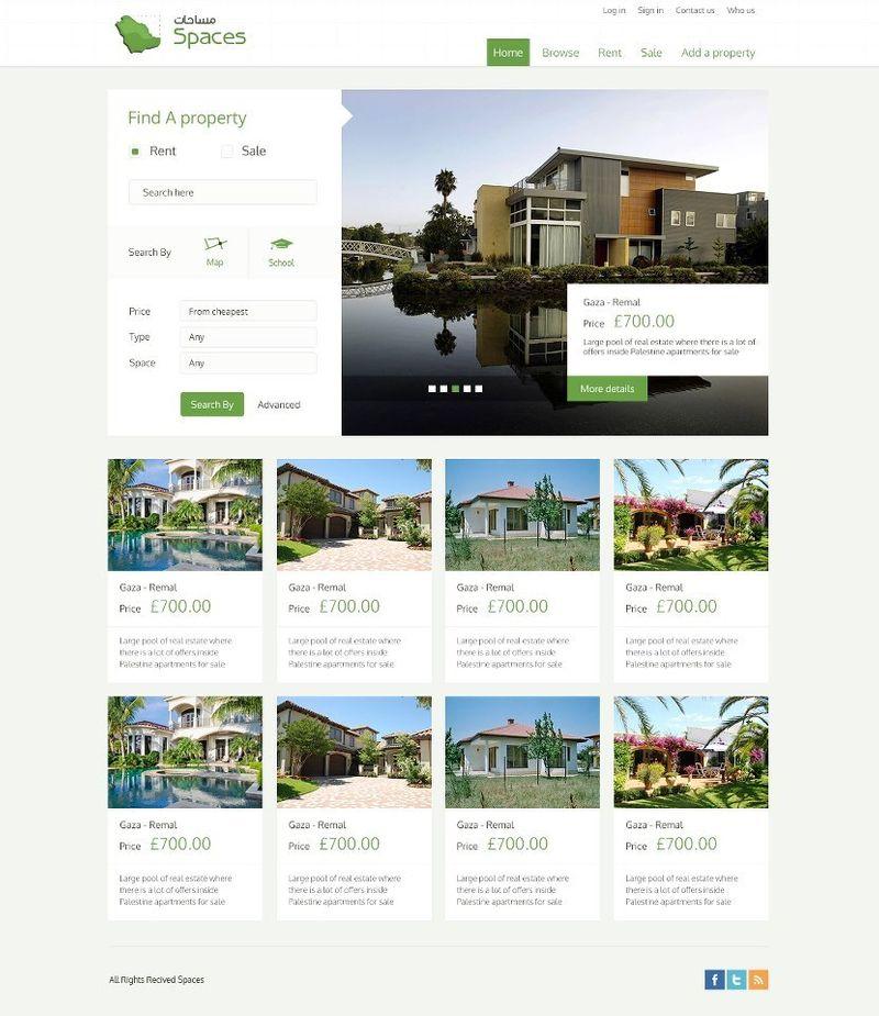 Spaces Website Design