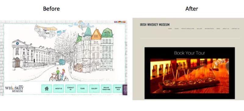 Re-design the Irish Whiskey Museum website