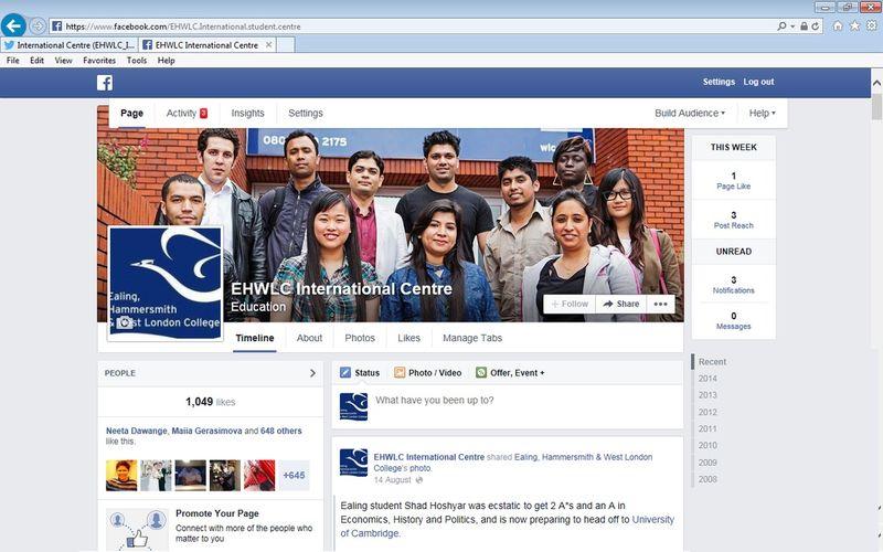EHWLC's International Social Media