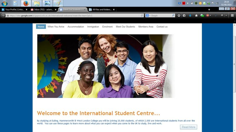 EHWLC's International Student Profile