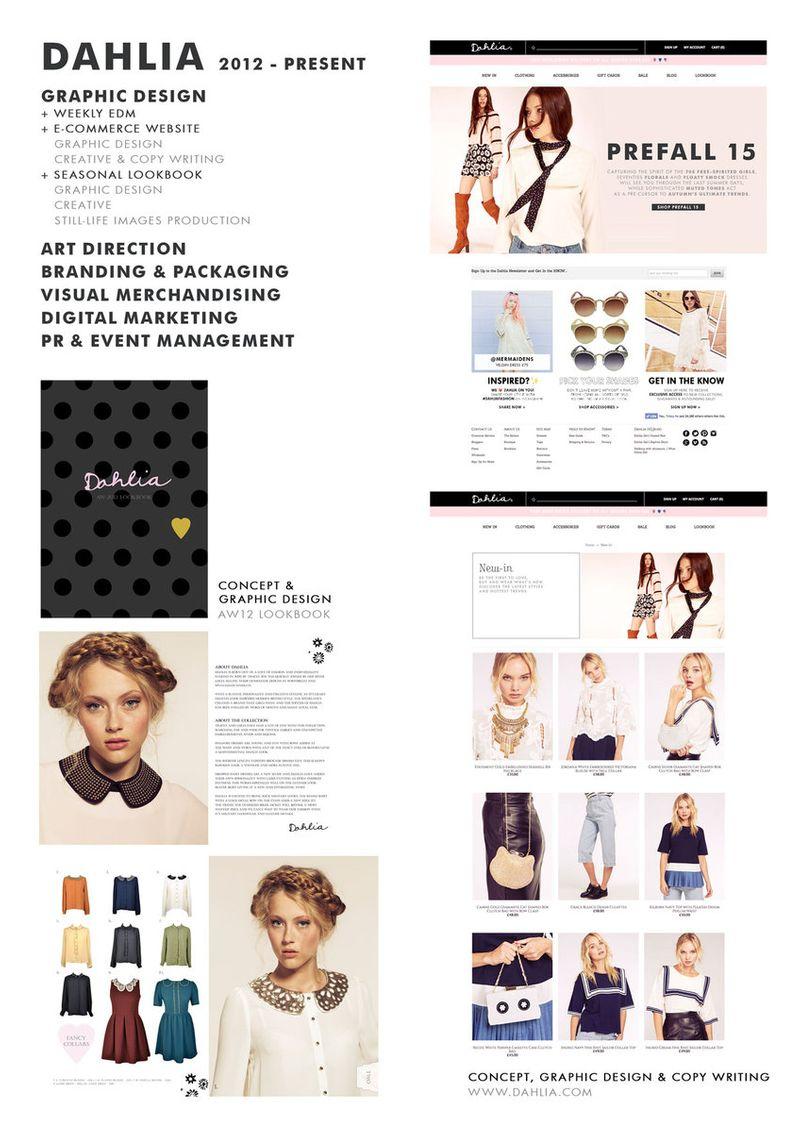 DAHLIA   E-Commerce Website & Look Book Production