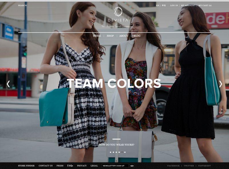Devieta website redesign