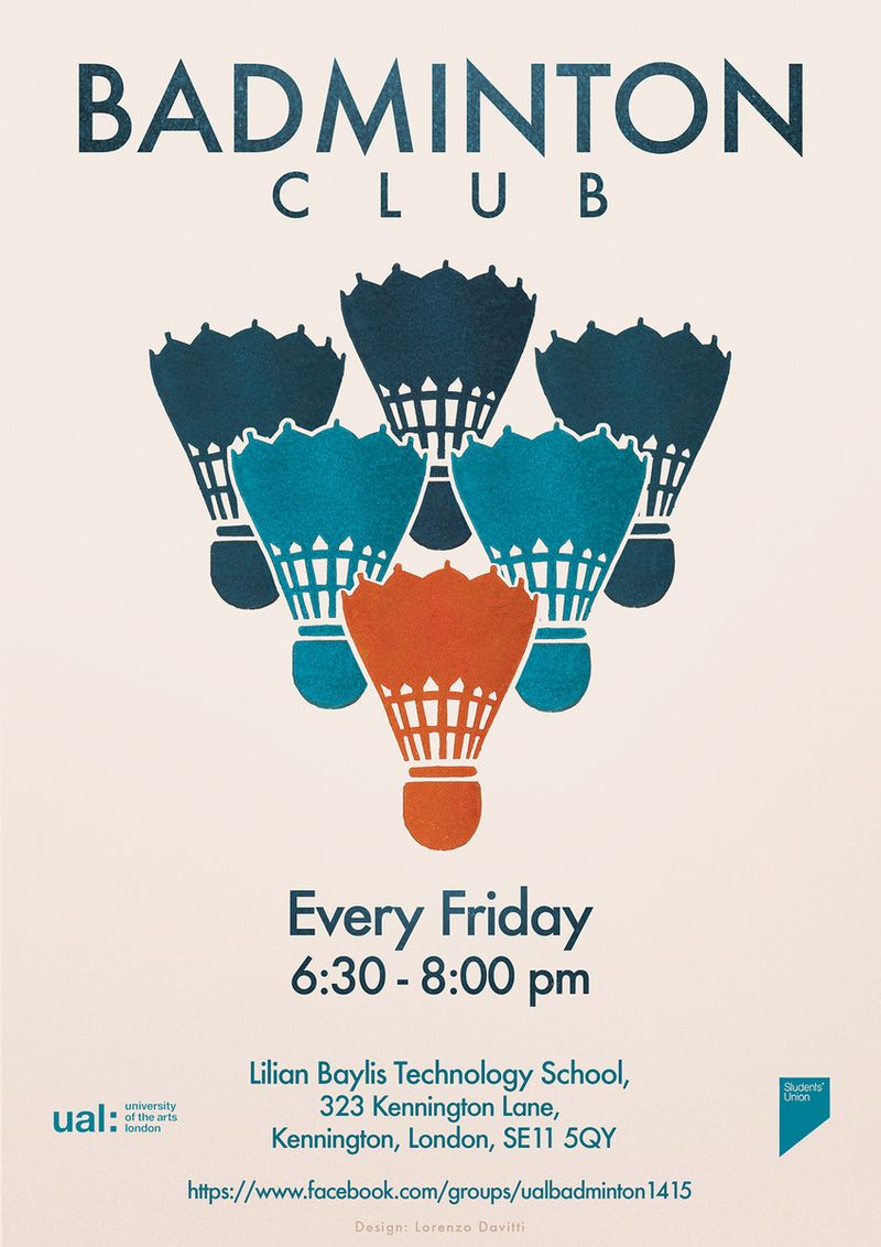 UAL Badminton Club Promotional Poster
