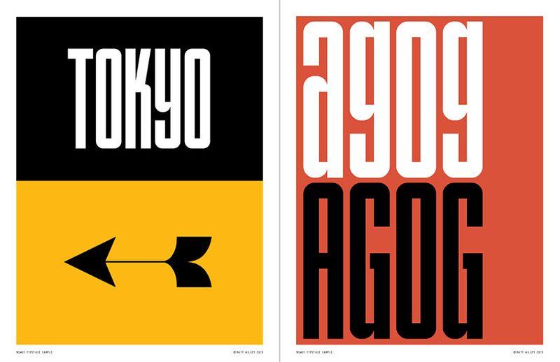 NSW01 Typeface