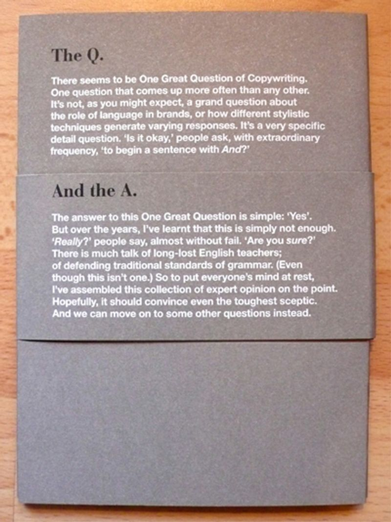 Self-promotional booklet