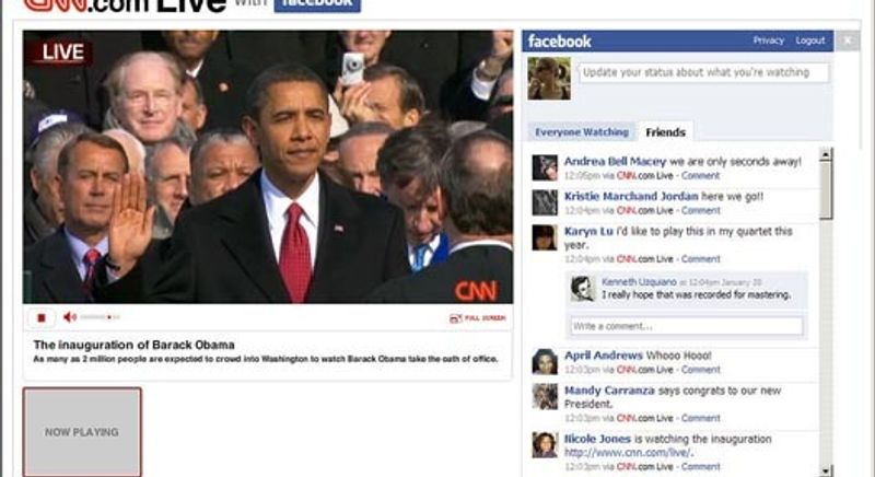 CNN.COM + FACEBOOK COLLABORATION: 2009 PRESIDENTIAL INAUGURATION
