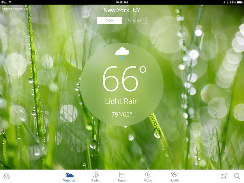 THE WEATHER CHANNEL iPAD APP
