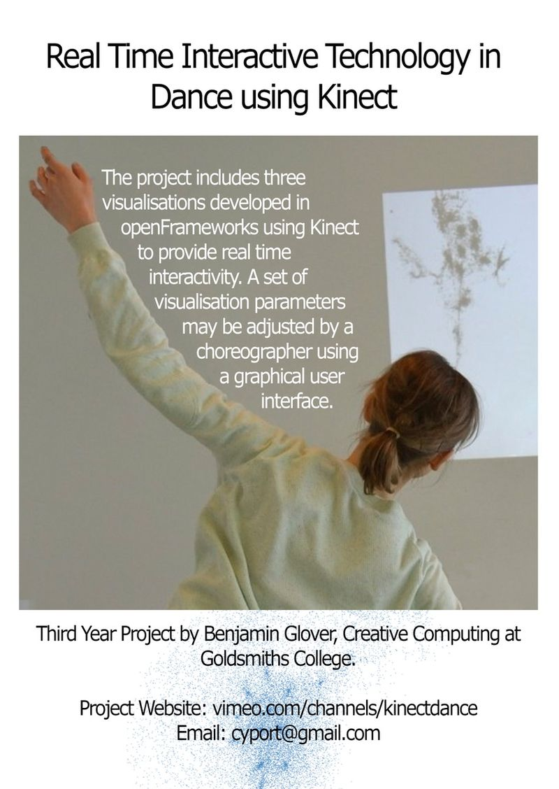 Real Time Interactive Technology with Dance using Microsoft Kinect