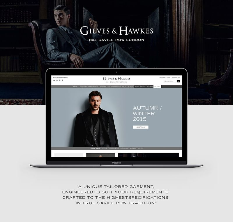 Gieves & Hawkes - Responsive Web Design & Development