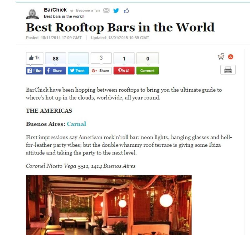 Content for Best Rooftop Bars Around the World