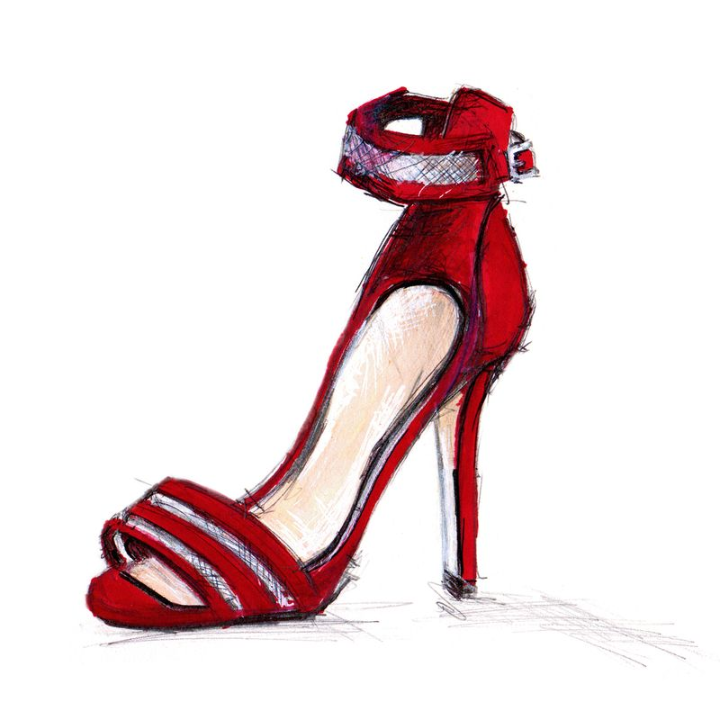 Office - Red heeled shoe