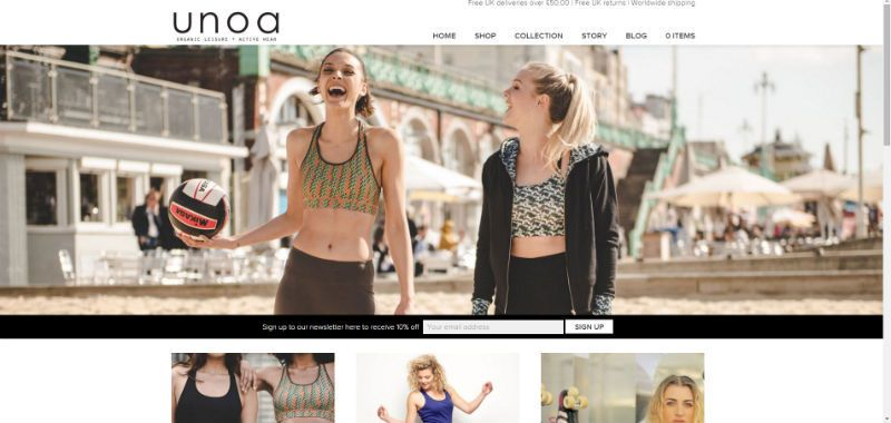 Website Design for Unoa
