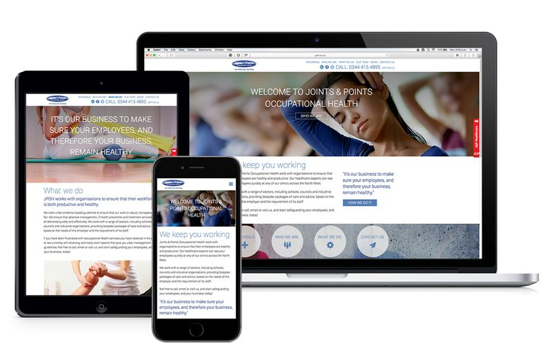 Joint & Points Occupational Health website redesign