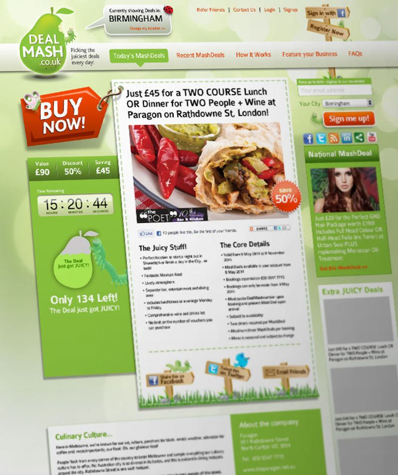DealMash logo and website design