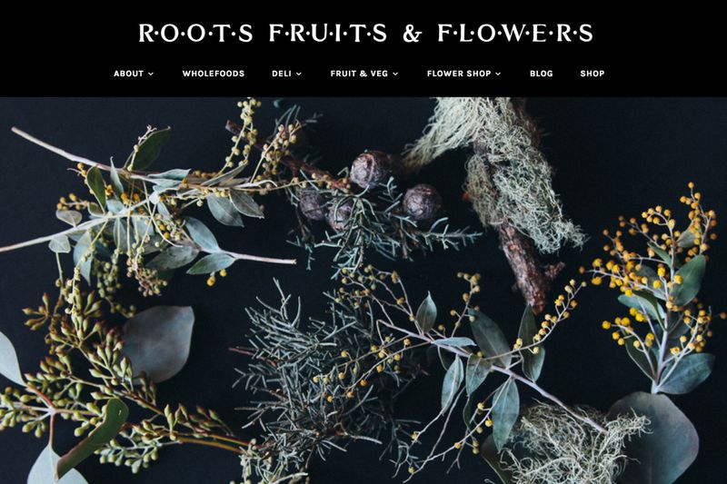 Roots Fruits & Flowers Website