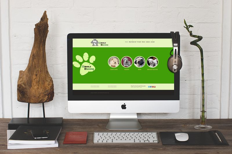 AnimalsUniverse.com Homepage Design