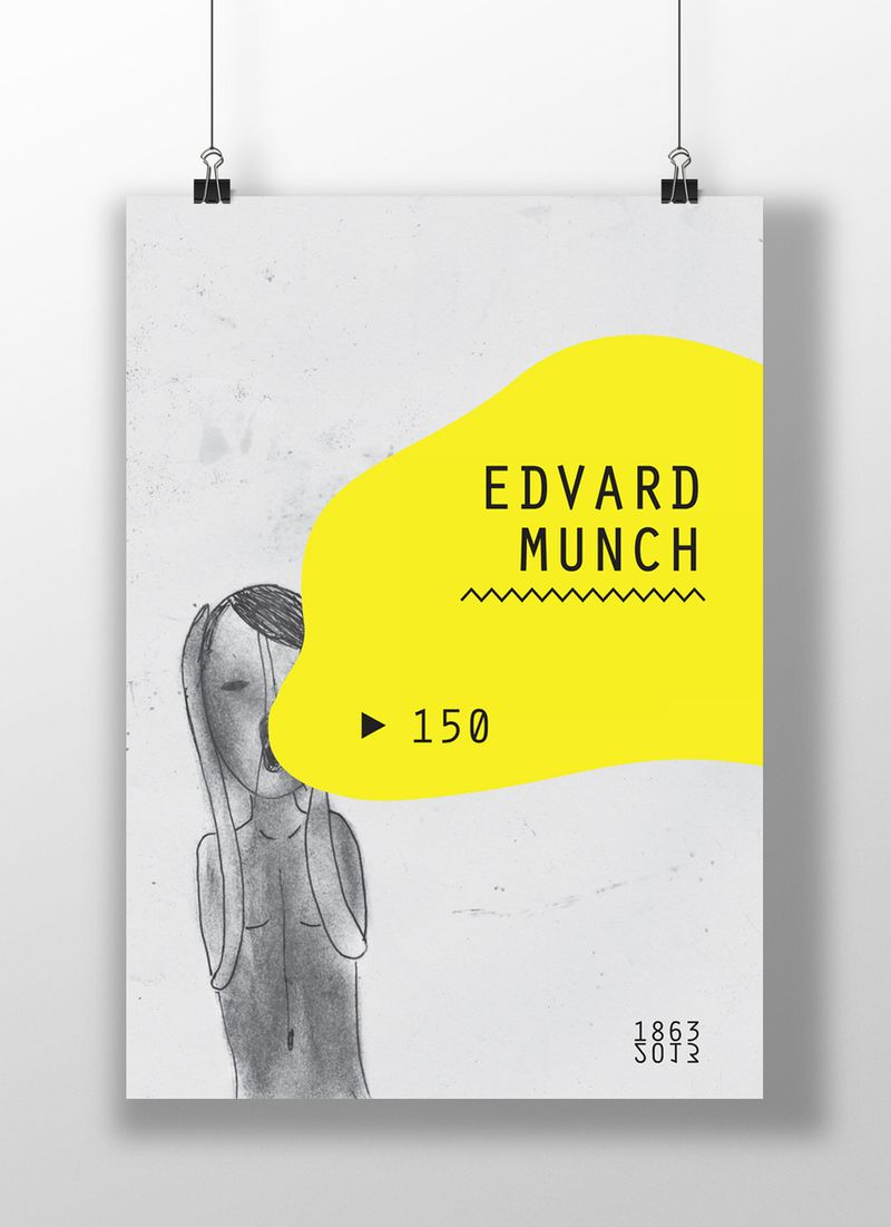 150 years with Edvard Munch poster