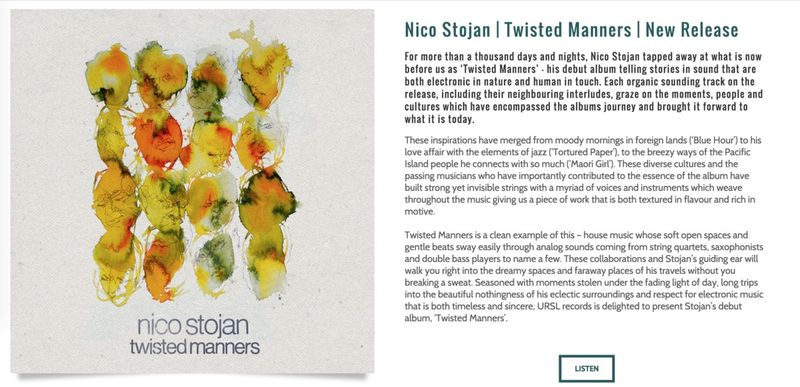 Nico Stojan | Album  Press Release