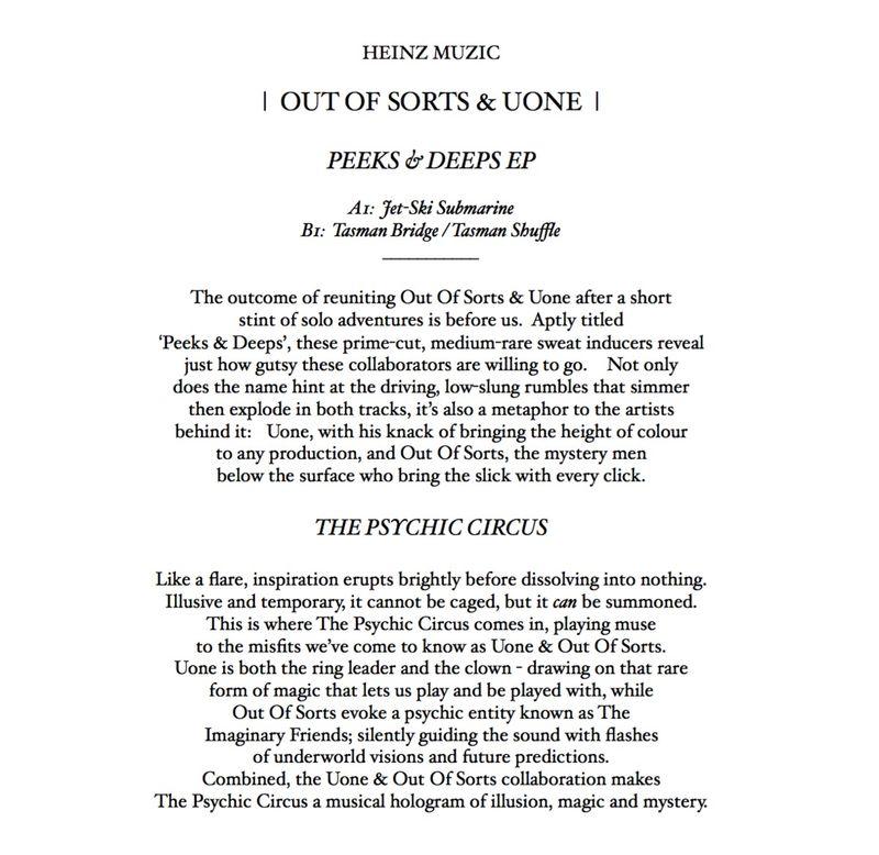 Heinz Music Press Release