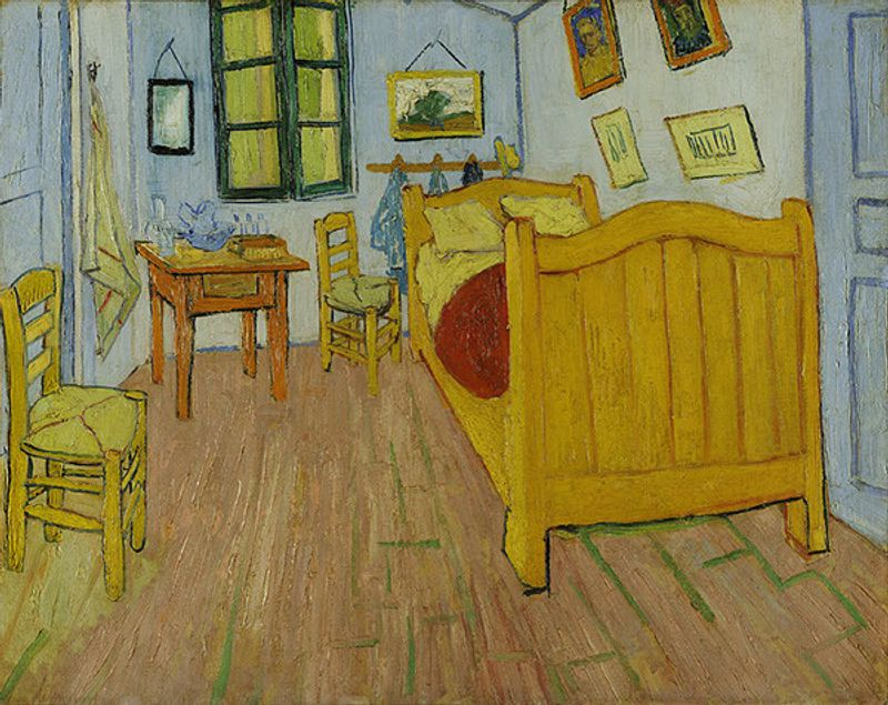 Vincent Van Gogh wooden room by SG