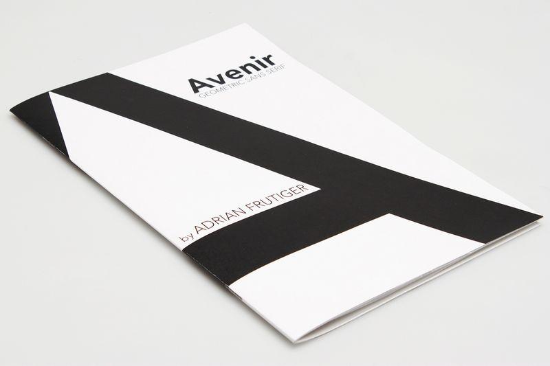 Avenir Typeface Specimen