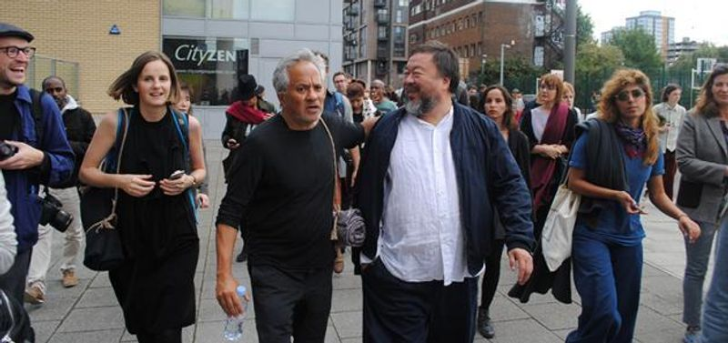 Artlyst Talks To Ai Weiwei And Anish Kapoor Marching In Support Of Refugees