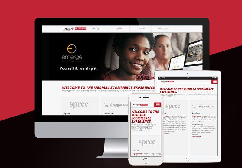 Media24 eCommerce Landing page